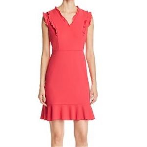 Karl Lagerfeld Sleeveless Ruffle Trim Dress